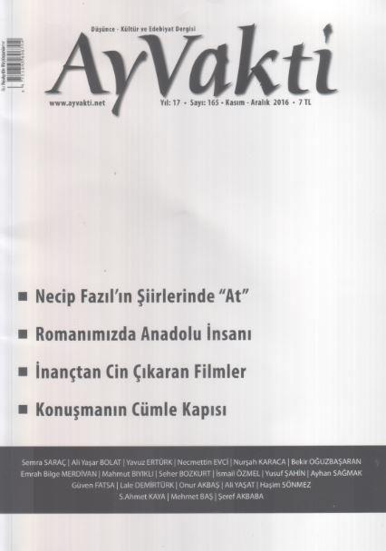 Ay Vakti Dergisi - Sayı 165 - Kasım Aralık 2016