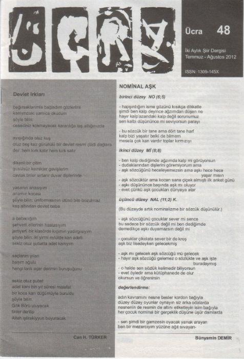 ÜCRA DERGİSİ TEMMUZ AĞUSTOS 2012 – SAYI 48