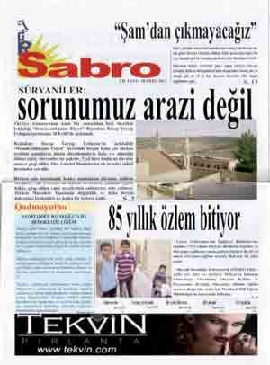 Sabro Gazetesi - Sayı 20 - Ekim 2013