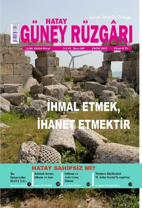 Güney Rüzgarı Dergisi - Sayı 189 - Ekim 2015