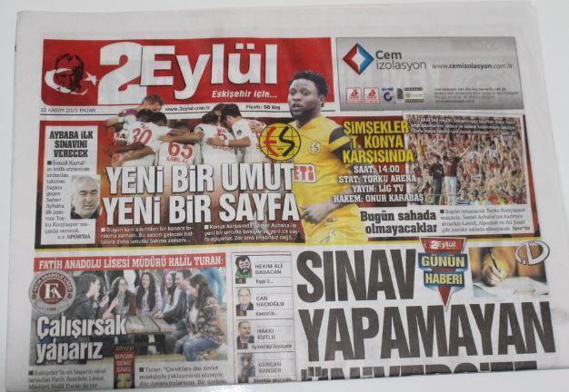 Eskişehir - 2 Eylül Gazetesi