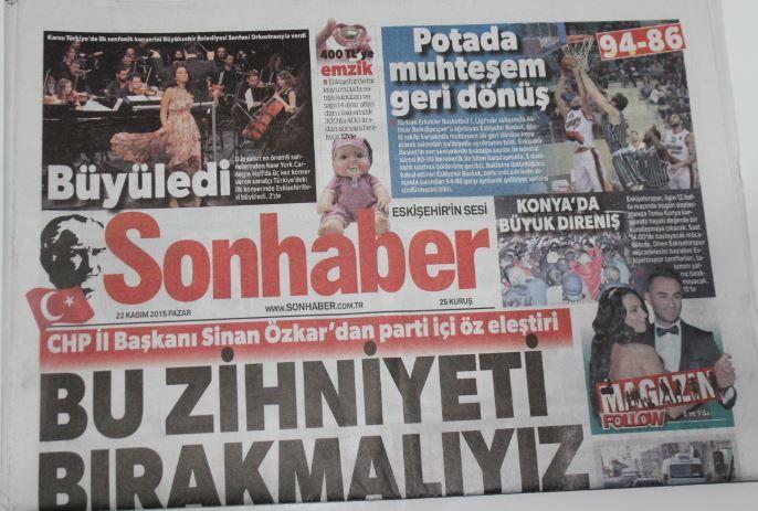 Eskişehir - Sonhaber Gazetesi