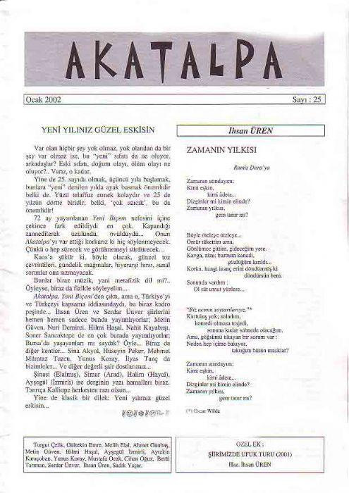 AMİK DERGİSİ - SAYI 13 - KASIM 2001