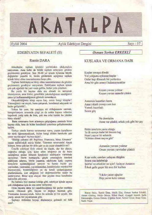 AKATALPA DERGİSİ - EYLÜL 2004 - SAYI 57