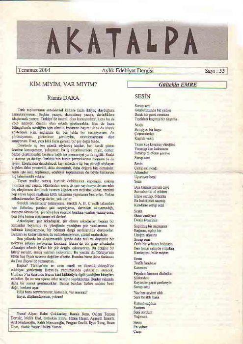 AKATALPA DERGİSİ - TEMMUZ 2004 - SAYI 55