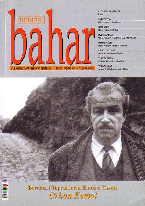 BERFİN BAHAR DERGİSİ - SAYI 88 - HAZİRAN  2005