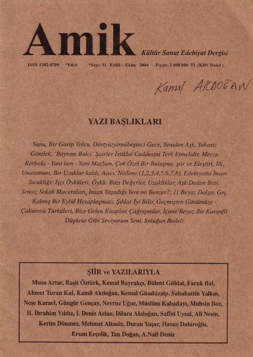 AMİK DERGİSİ - SAYI 31 - EYLÜL EKİM 2004