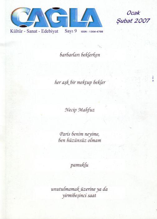 ÇAĞLA DERGİSİ - SAYI 9 - OCAK ŞUBAT 2007