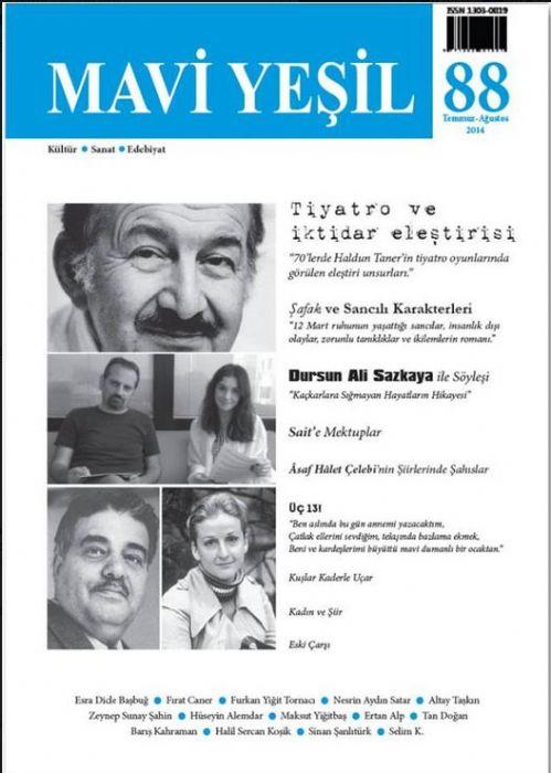 MAVİ YEŞİL DERGİSİ - SAYI 88 - TEMMUZ AĞUSTOS 2014