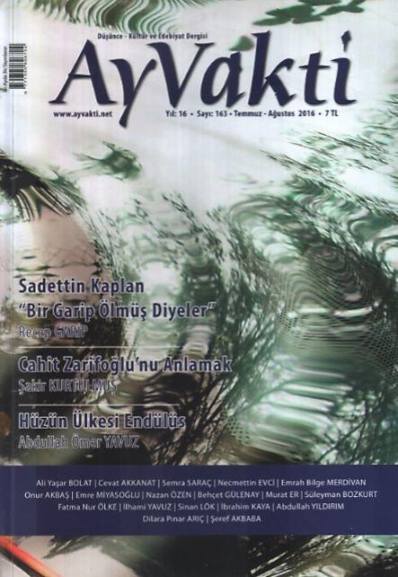 Ayvakti Dergisi - Sayı 163 - Temmuz Ağustos 2016