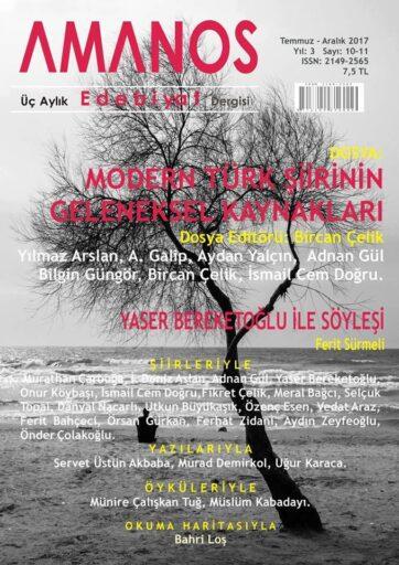 Amanos Dergisi, Sayı 10 11, Temmuz Aralık 2017