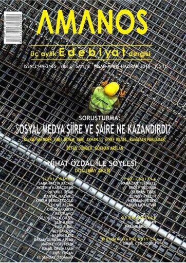 Amanos Dergisi, Sayı 8, Nisan, Mayıs, Haziran 2016