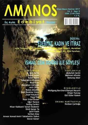 Amanos Dergisi, Sayı 9, Nisan, Mayıs, Haziran 2017