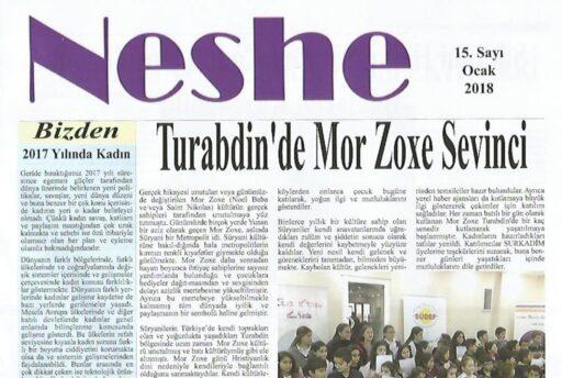 Neshe Bülteni, Sayı 15, Ocak 2018