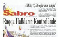 Sabro Gazetesi, Sayı 69, Kasım 2017