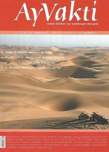 Ay Vakti Dergisi, Sayı 81, Haziran 2007