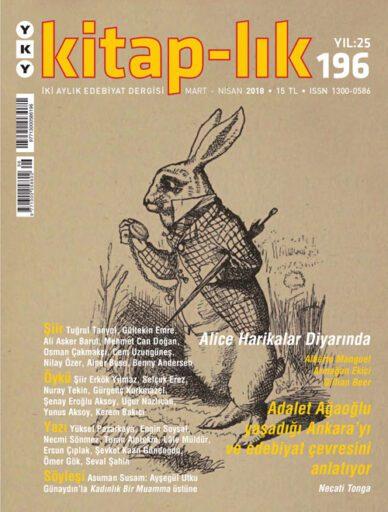 Kitap-lık Dergisi, Sayı 196, Mart Nisan 2018
