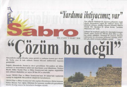 Sabro Gazetesi, Sayı 73, Mart 2018
