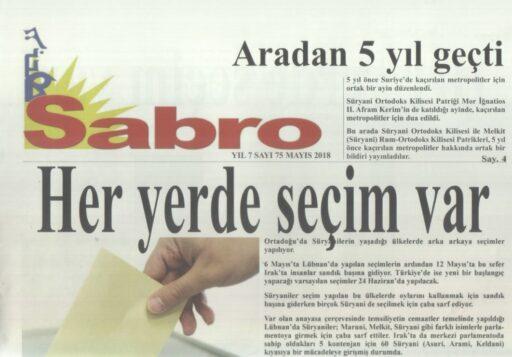 Sabro Gazetesi, Sayı 75, Mayıs 2018