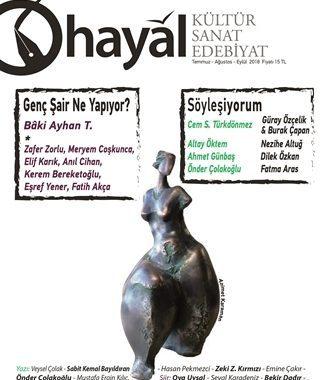 Hayal Kültür Sanat Edebiyat Dergisi, Sayı 66, Temmuz Ağustos Eylül 2018