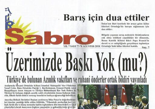 Sabro, Sayı 77 78, Ağustos 2018