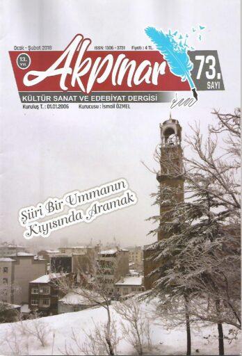 Akpınar Dergisi, Sayı 73, Ocak Şubat 2018