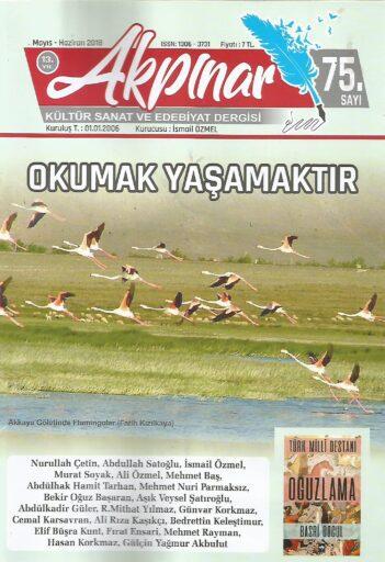 Akpınar Dergisi, Sayı 75, Mayıs Haziran 2018