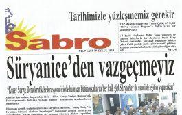 Sabro Gazetesi, Sayı 79, Eylül 2018