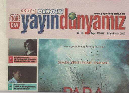 Sur Dergisi, Sayı 38, Ekim Kasım 2012