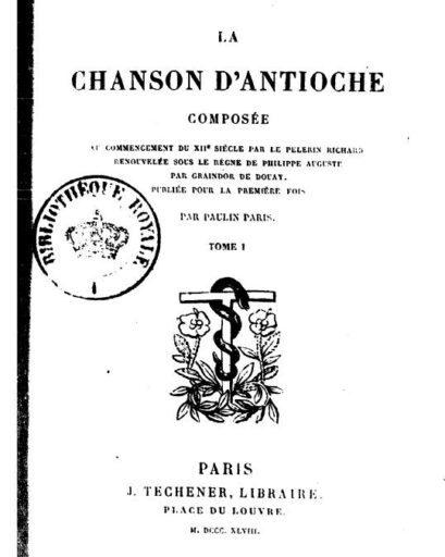 """CHANSON D'ANTIOCHE"""