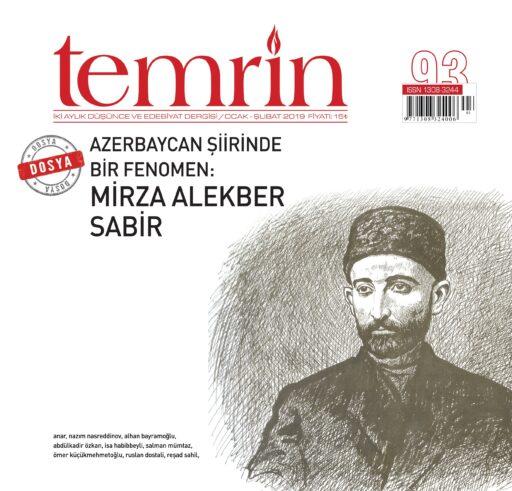 Temrin Dergisi, Sayı 93, Ocak Şubat 2019