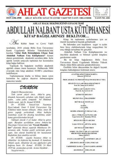 Ahlat Gazetesi, Sayı 221