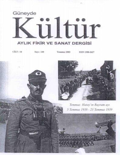 Güneyde Kültür Dergisi, Sayı 140