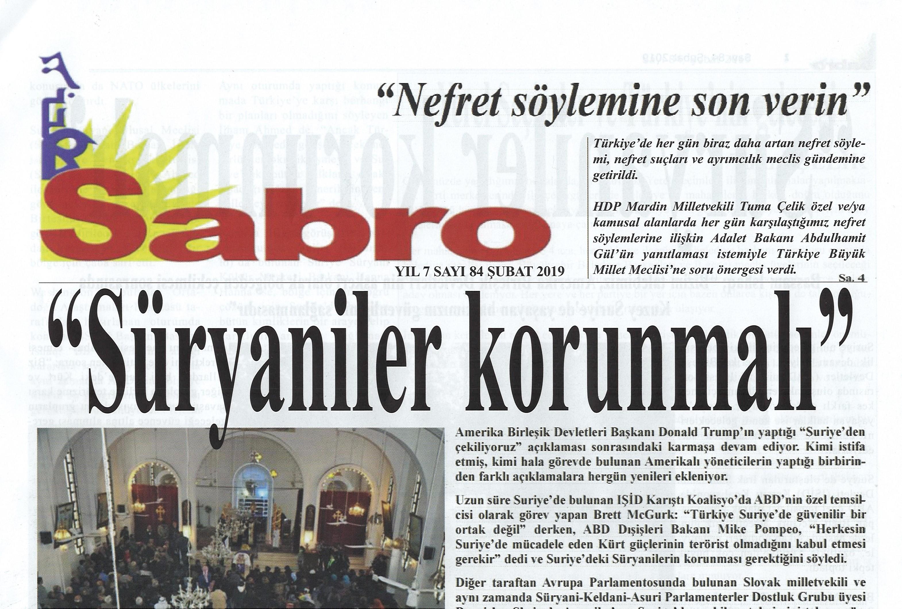 Sabro Gazetesi, Sayı 84