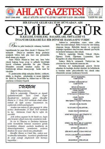 Ahlat Gazetesi, Sayı 222
