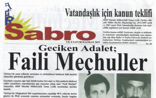 Sabro Gazetesi, Sayı 88