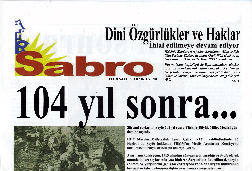 Sabro Gazetesi, Sayı 89