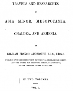 Travels and Researches in Asia Minor, Mesopotamia, Chaldea and Armenia