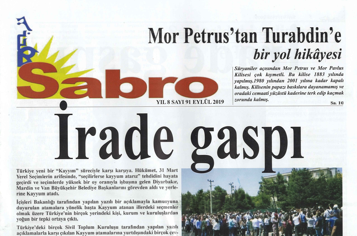 Sabro Gazetesi, Sayı 91, Eylül 2019