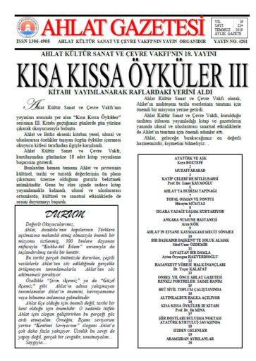 Ahlat Gazetesi, Sayı 224