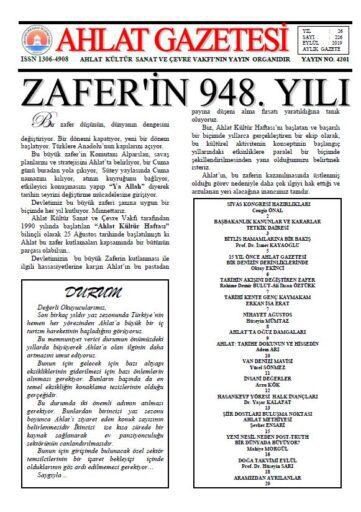 Ahlat Gazetesi, Sayı 226