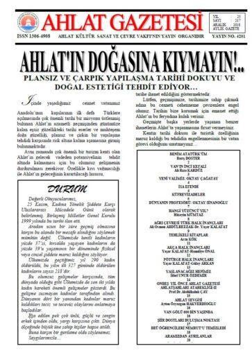 Ahlat Gazetesi, Sayı 217
