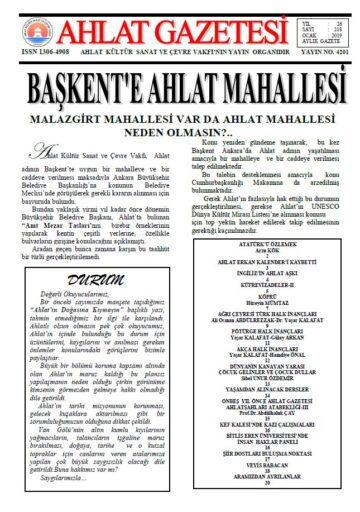 Ahlat Gazetesi, Sayı 218