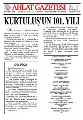 Ahlat Gazetesi, Sayı 219