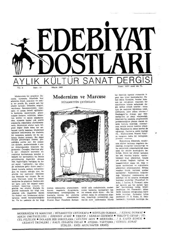 Edebiyat Dostları Dergisi, Sayı 13
