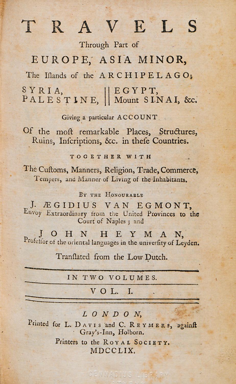 Seyahat(name)lerdeki Antakya – 8 Van Egmont – John Heyman