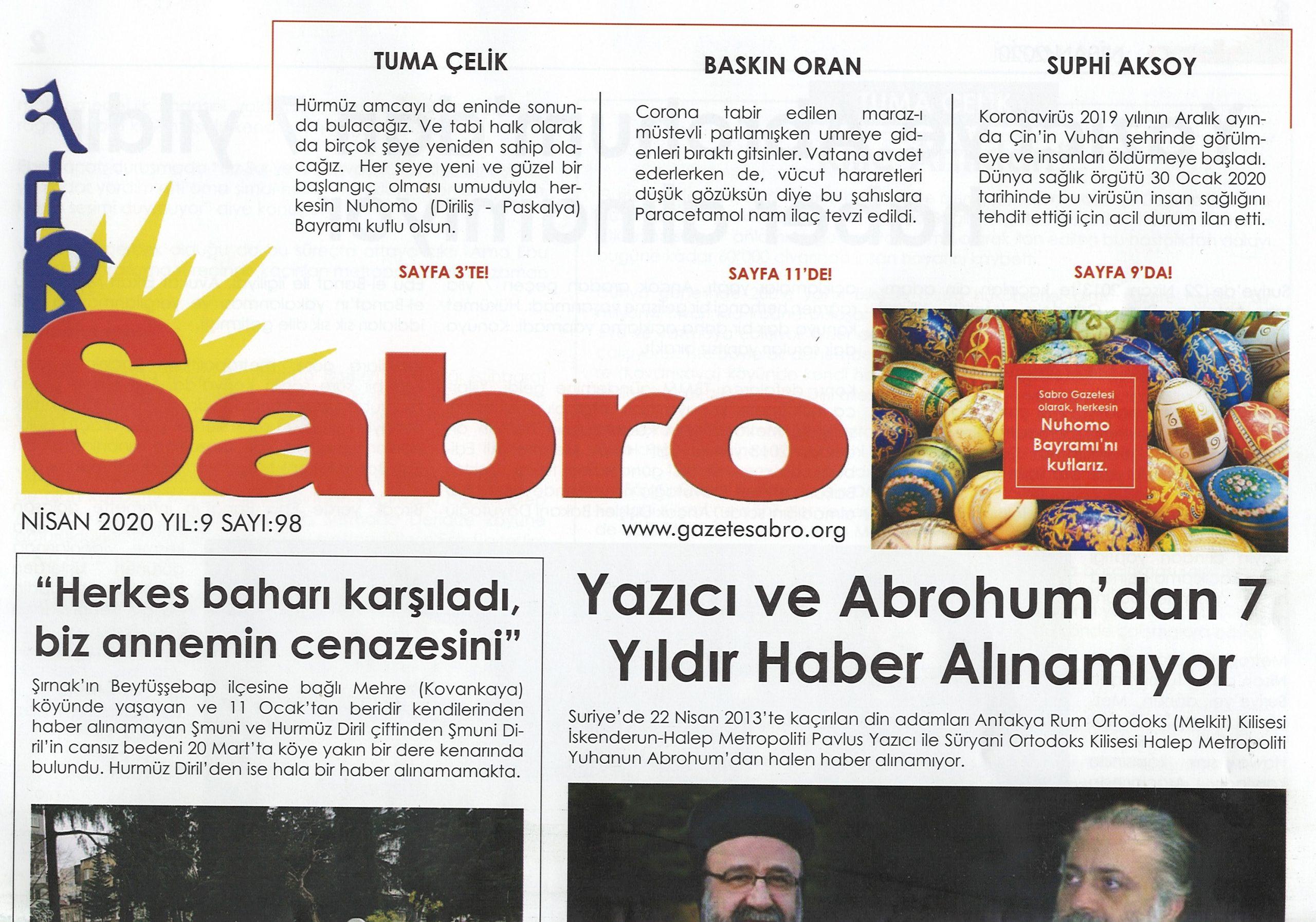 Sabro Gazetesi, Sayı 98