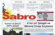 Sabro Gazetesi, Ağustos 2020, Sayı 102