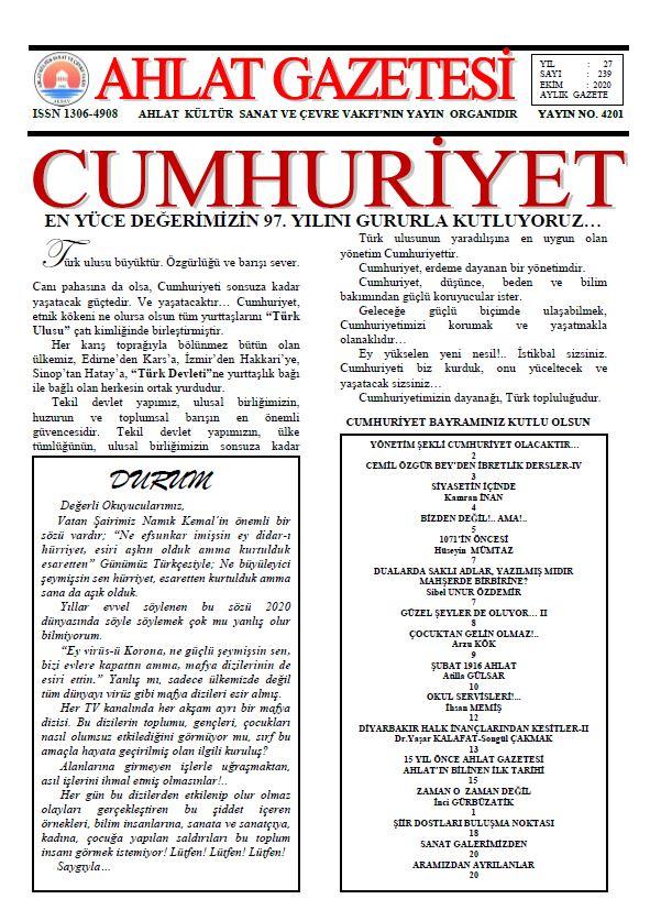 Ahlat Gazetesi, Sayı 239