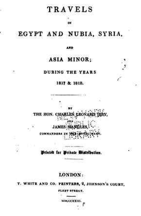 Seyahat(name)lerdeki Antakya -14 Charles Leonard Irby ve James Mangles